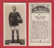 Cardiff City Fred Keenor Wales
